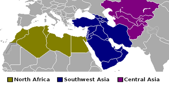 North Africa And Southwest Asia Blank Map | Jackenjuul